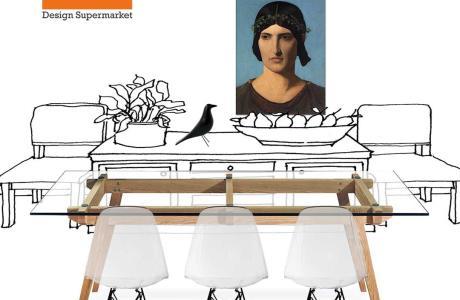 Τραπεζαρία ξύλο γυαλί deco2 μόνο στο www.deco2.gr
